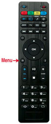 Mag 254 Remote Menu Button