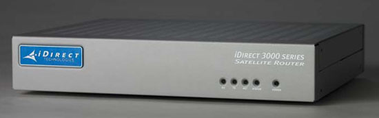 iDirect infinity modem, model 3100, Front panel