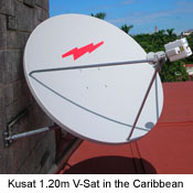 Kusat VSat Earth Station for V-Sat Internet in Caribbean